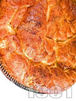Лесен обикновен тутманик със свинска мас, прясно и кисело мляко и сирене (със суха мая и сода) - снимка на рецептата